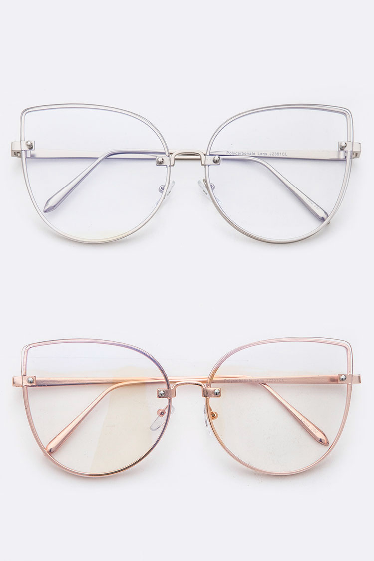 Cat Eye Optical Clear Lens Glasses