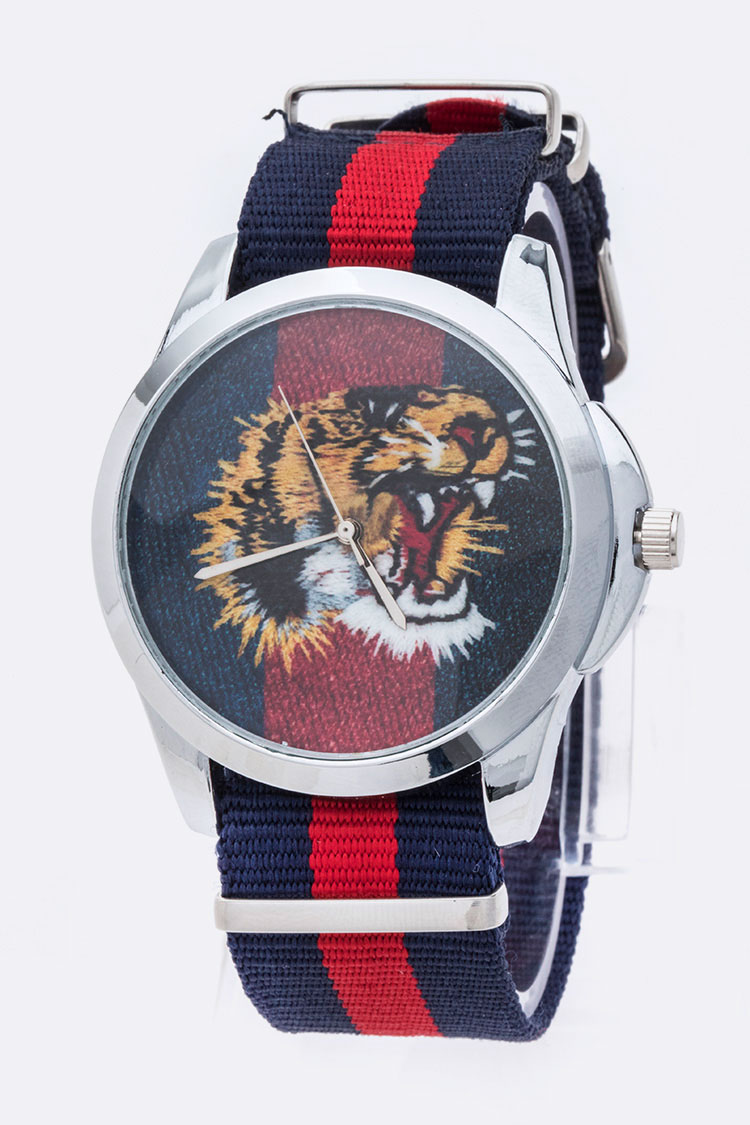 Tiger Printed Iconic Watch