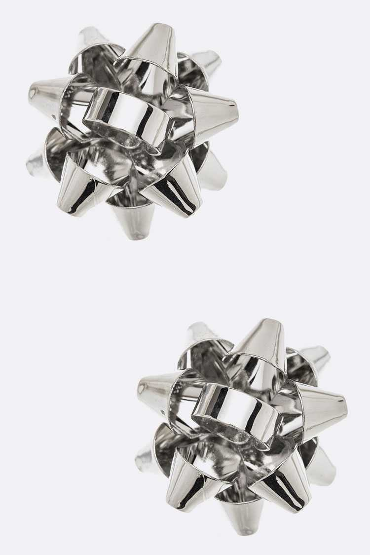 Metal Gift Bow Iconic Studs Set