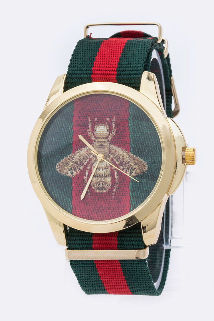 Golden Bee Printed Iconic Watch