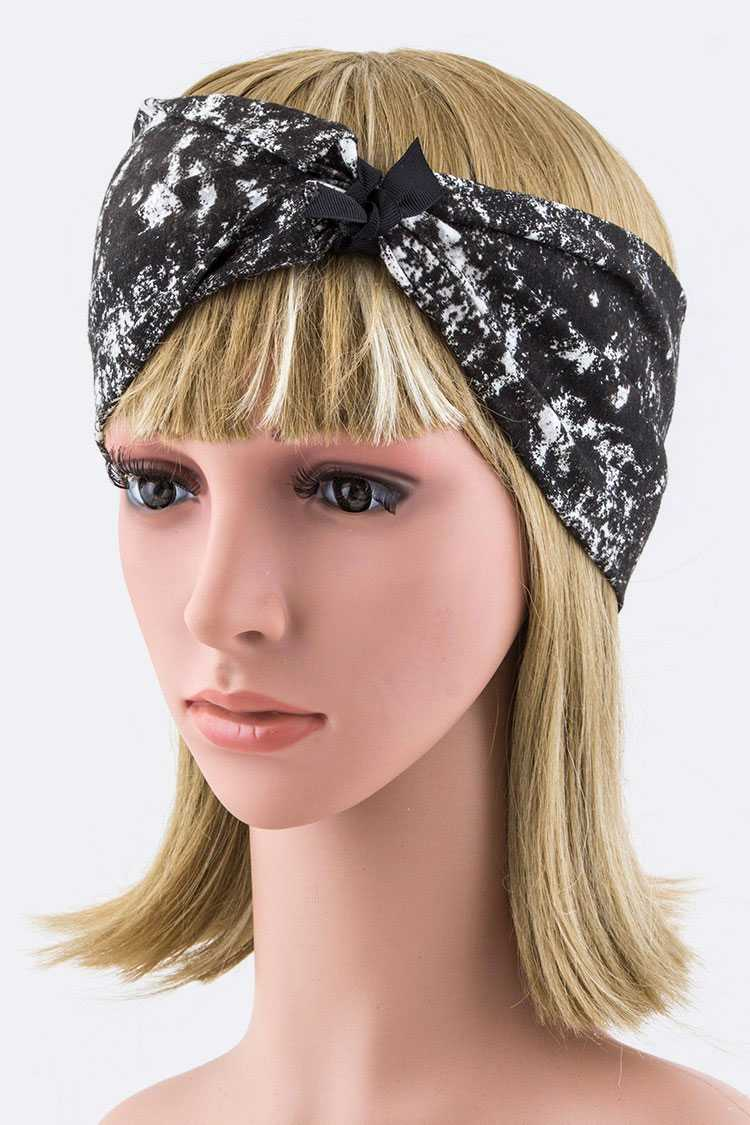 Convertible Spray Grafitti Cotton Jersey Headband