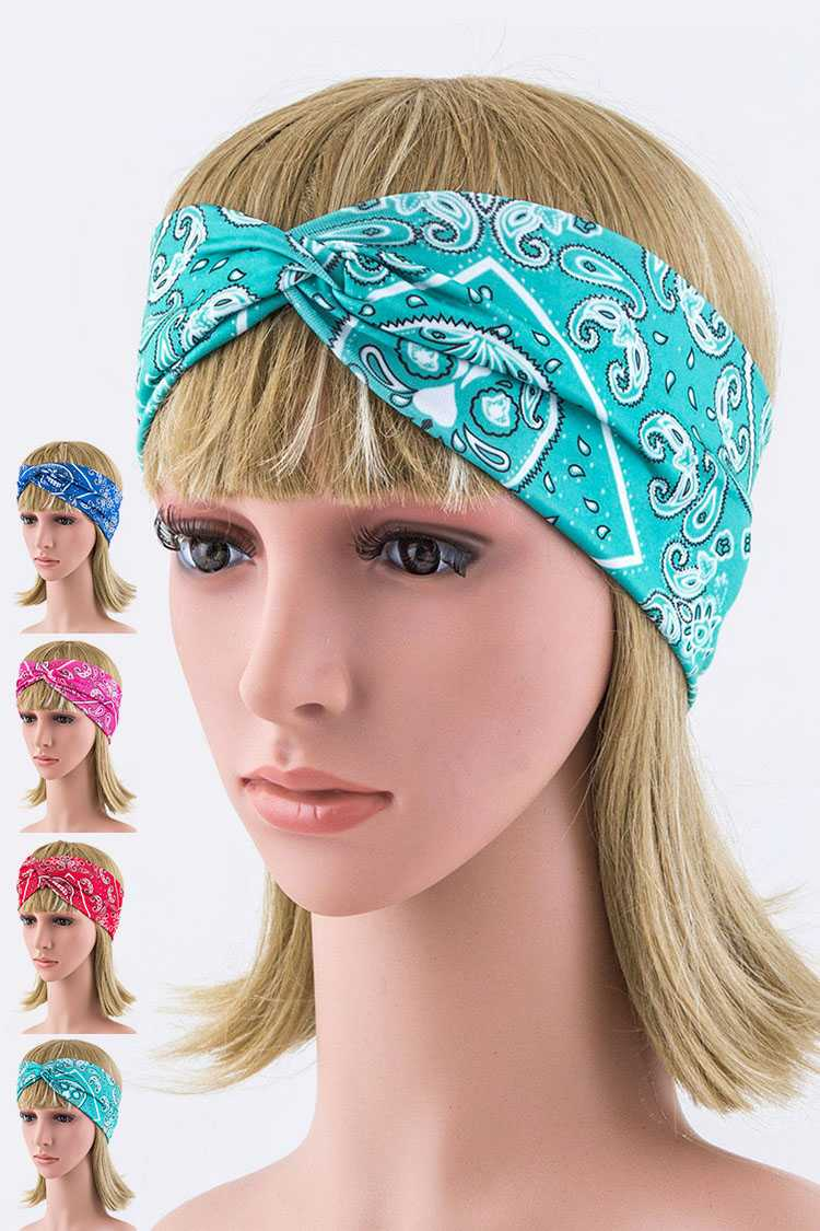 Bandana Design Turban knot Stretch Headband