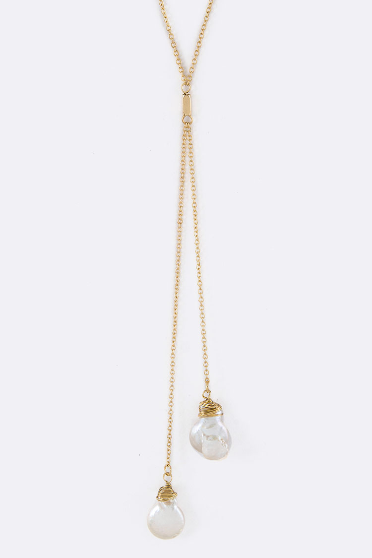 Pearl Drops Layer Necklace