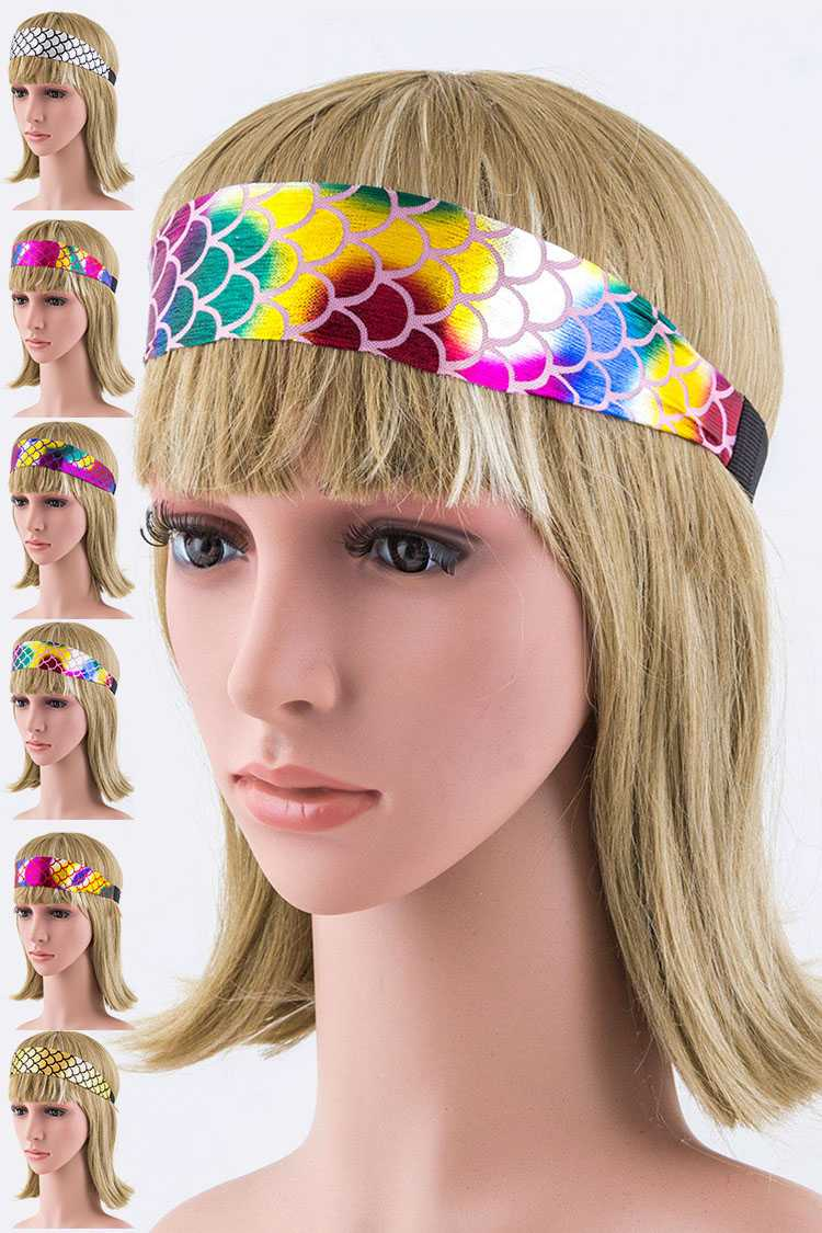 Metallic Mermaid Stretch Headband Set