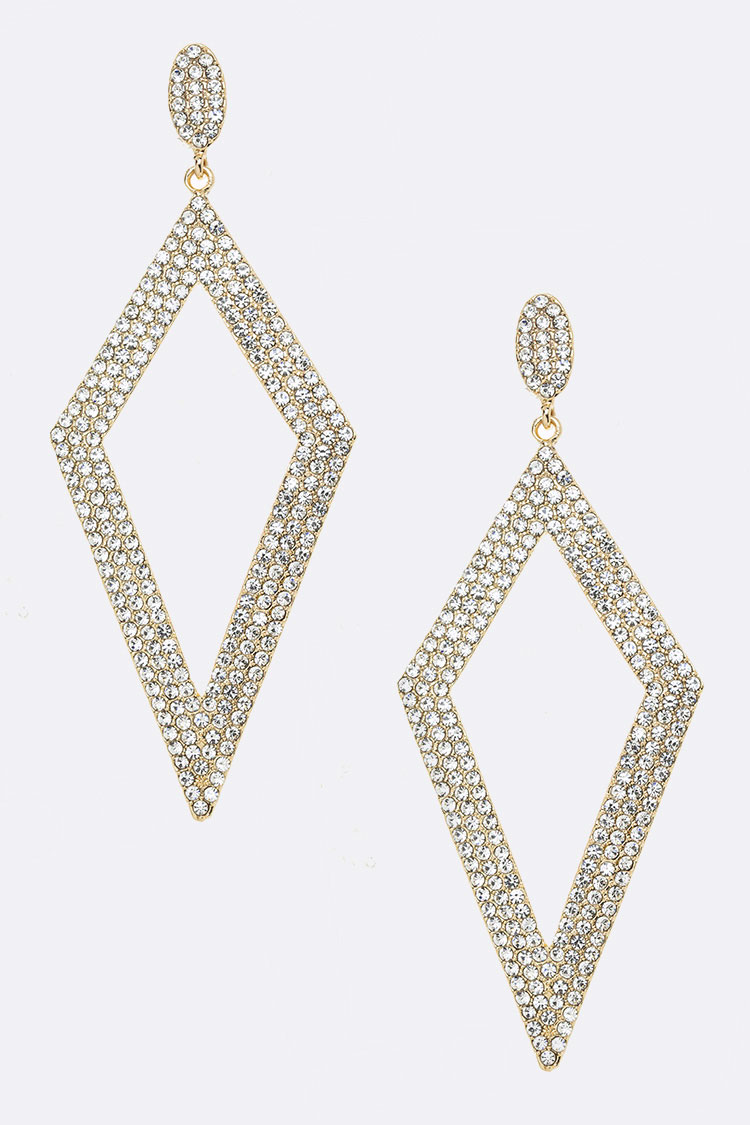 Extra Large Iconic Rhinestone Earrings