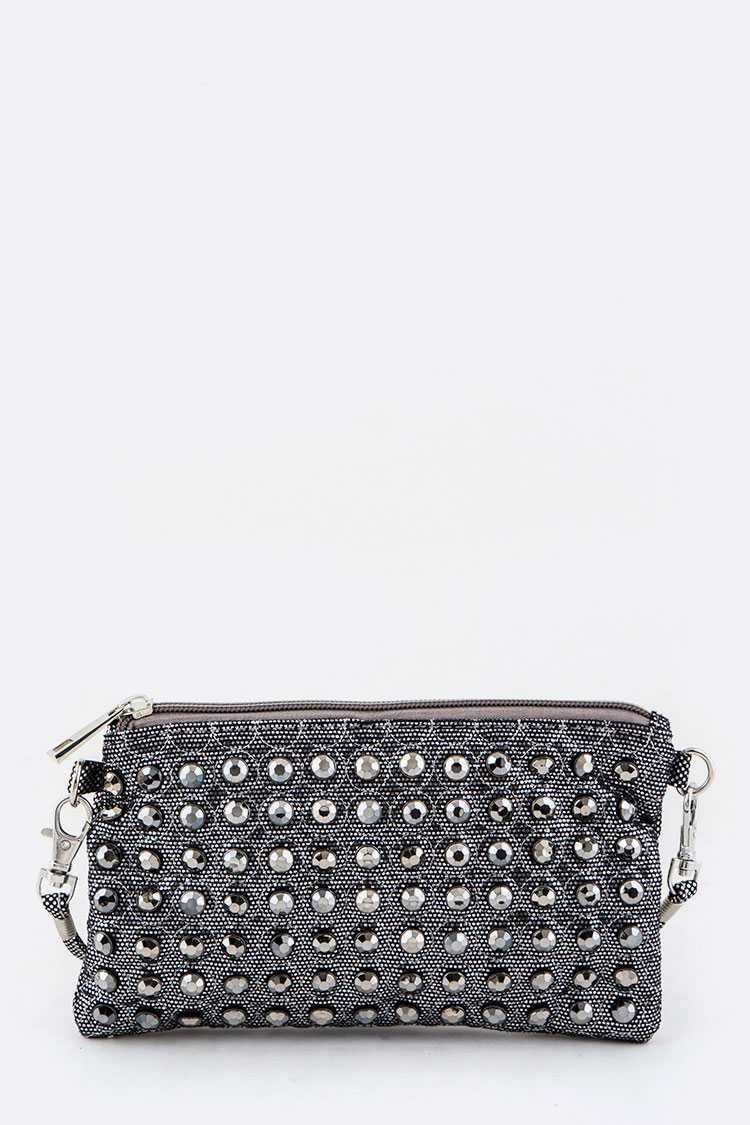 Crystal Studs Crossbody Bag