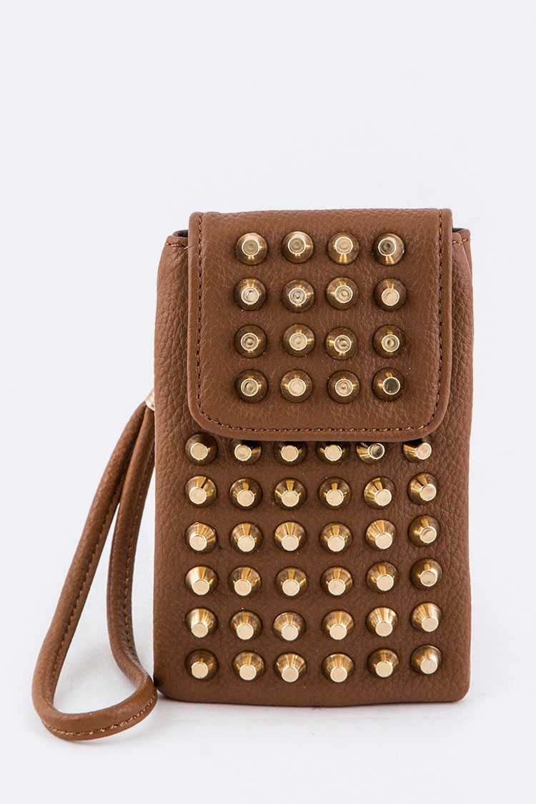 Studded Convertible Mini Pouch