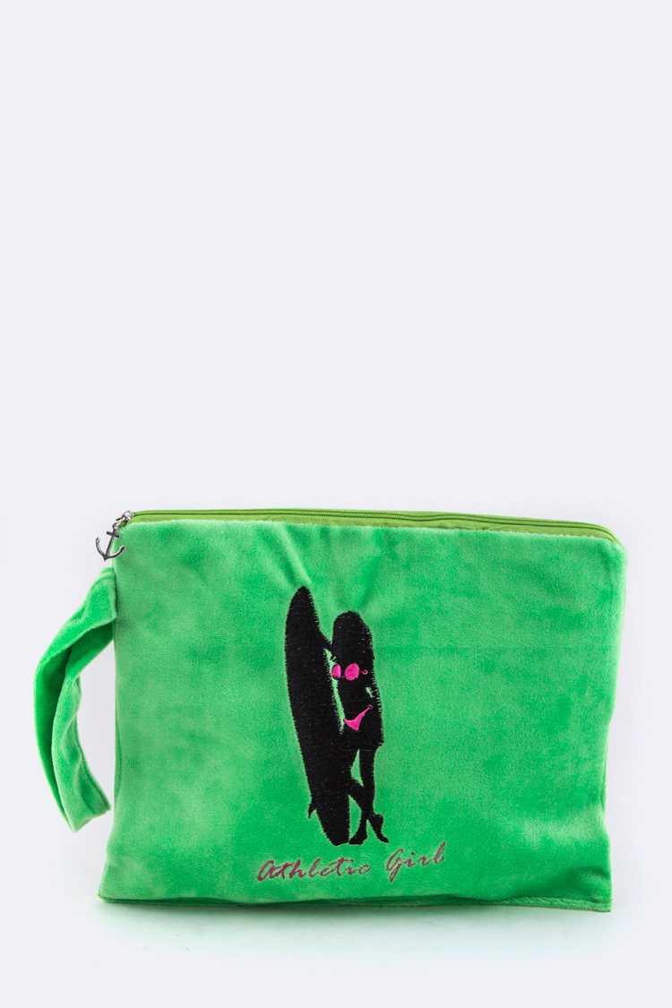 Surfer Girl Plush Bikini Bag