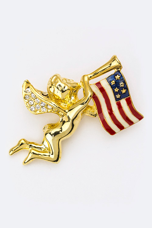 U.S Flag Angel Pin