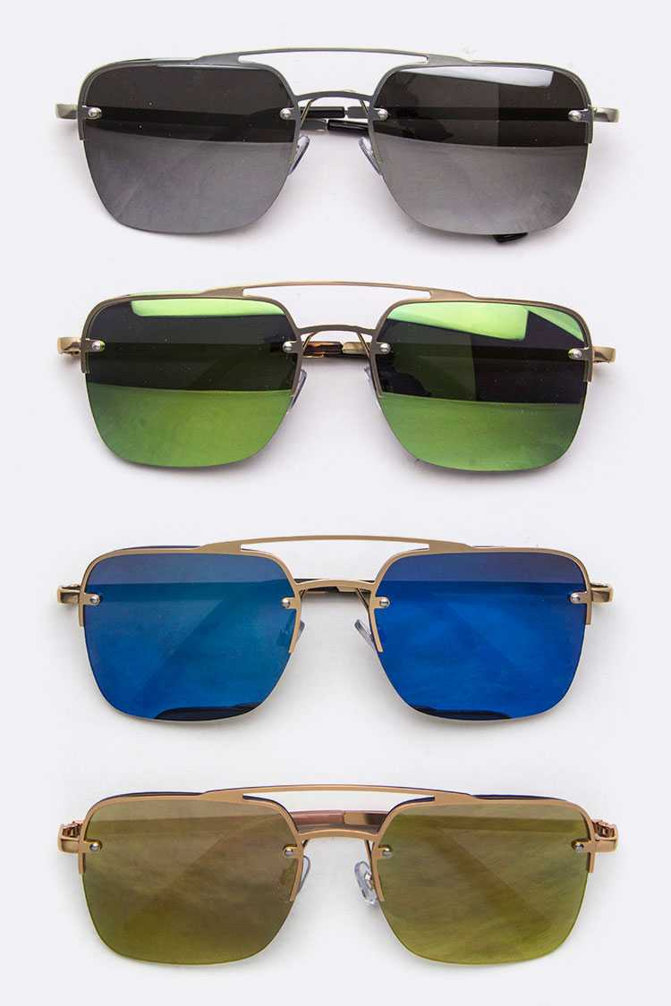 Mirror Tinted Square Sunglasses