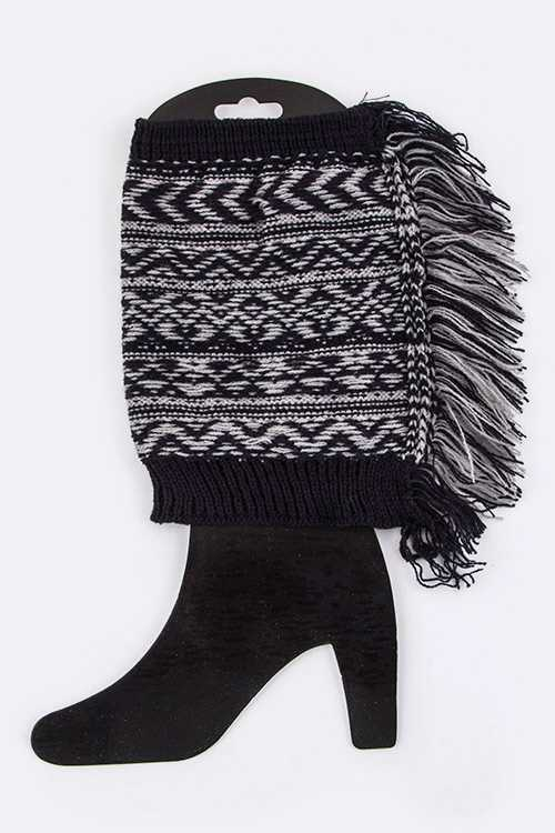 Fringed Boot Topper