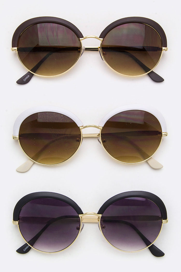 Iconic Oval Browline Sunglasses