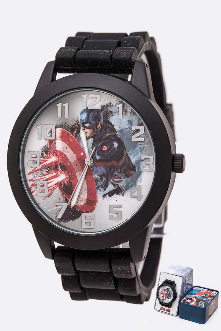 Marvel Captain America Watch Gift Set