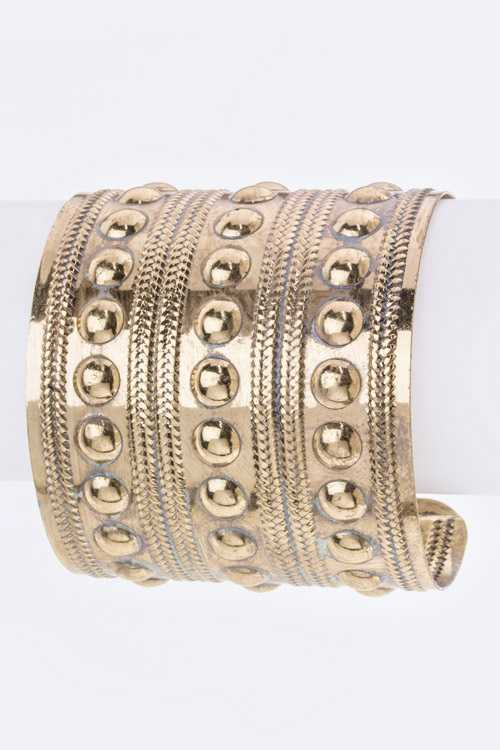 Embossed Pattern Metal Cuff