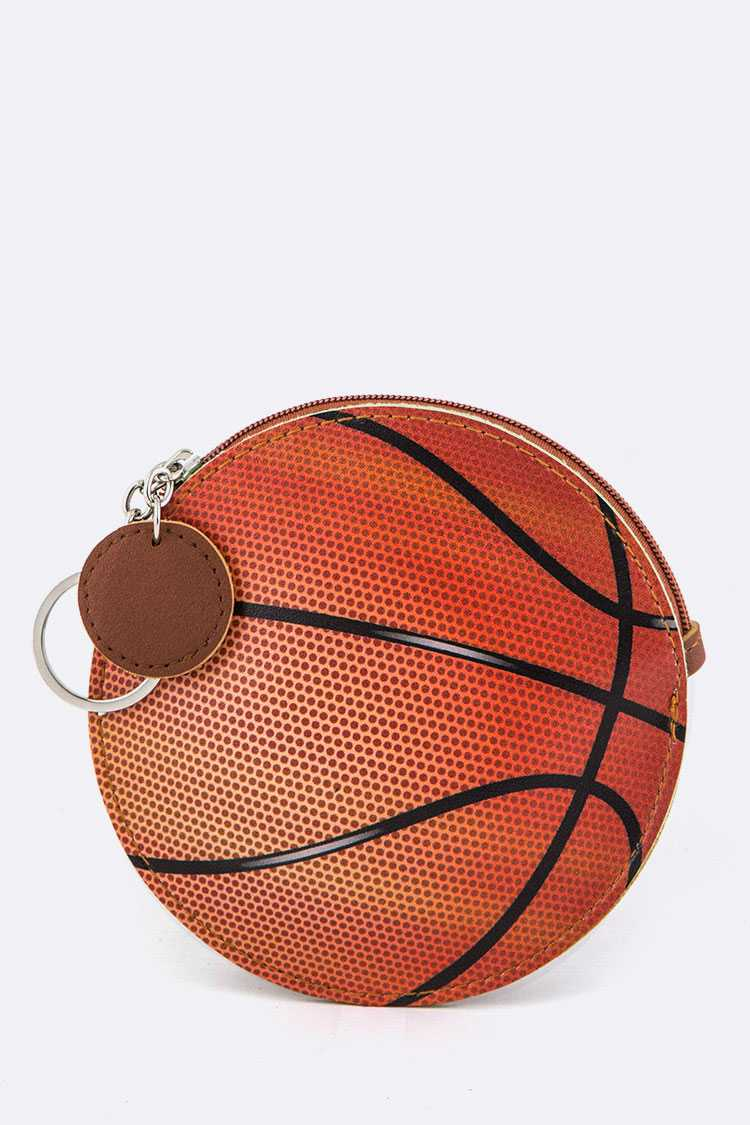 Basket Ball Coin Purse Key Charm