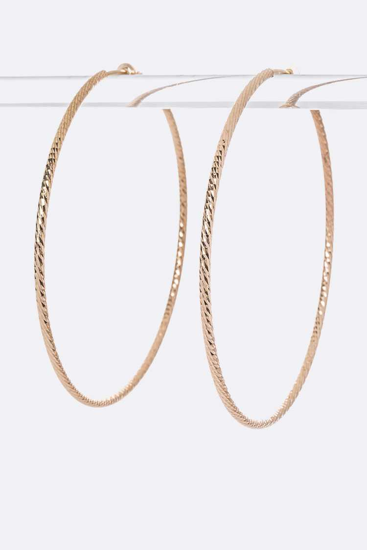 100MM Extra Large Clip On Hoops