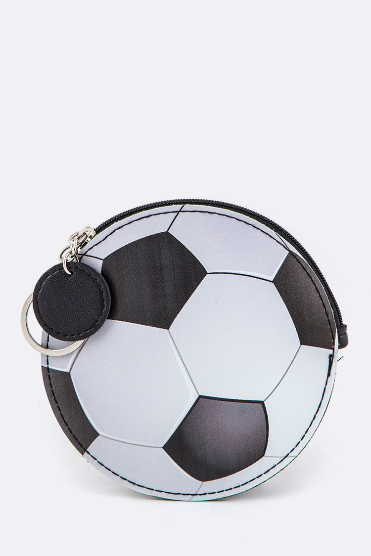 Soccer Ball Coin Purse Key Charm