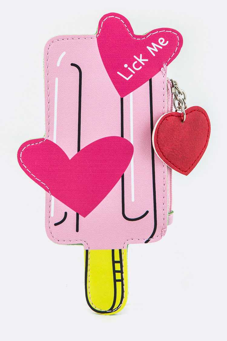 Ice Pop Coin Purse Key Charm