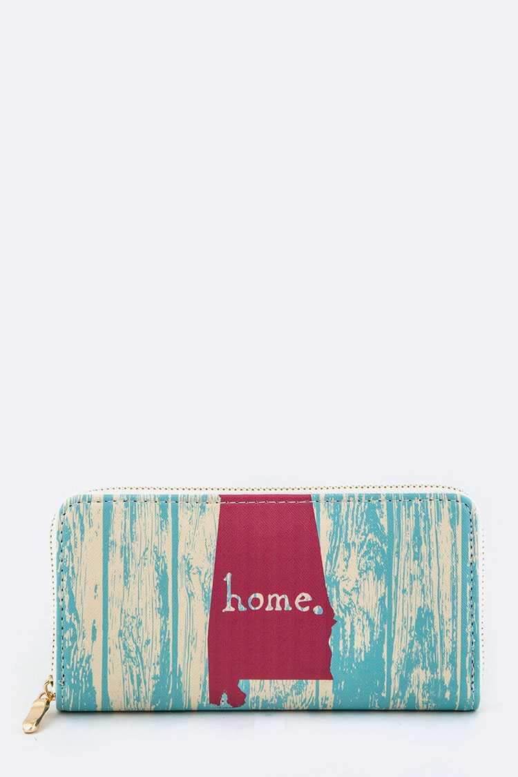 Alabama Map Print Wallet
