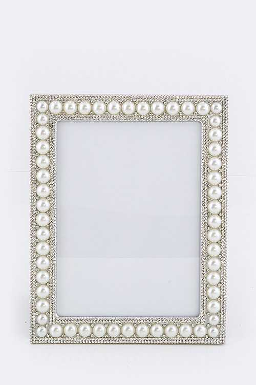 Pearl & Crystal Large Picture Frame