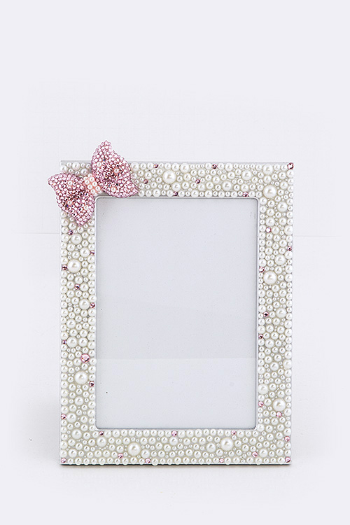 Crystal Bow Small Picture Frame