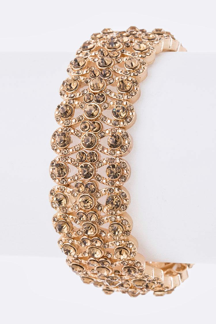 Crystal Designed Stretch Bracelet