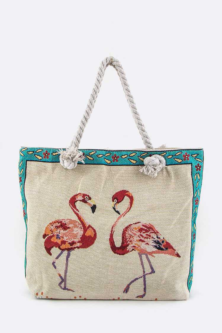 Flamingo Canvas Tote