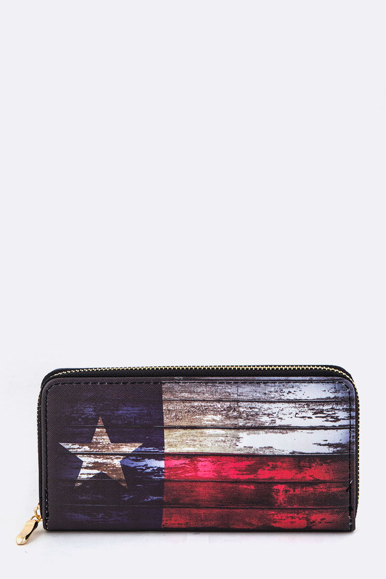 Texas Flag Print Wallet