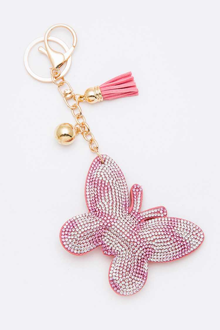 Crystal Butterfly Keychain