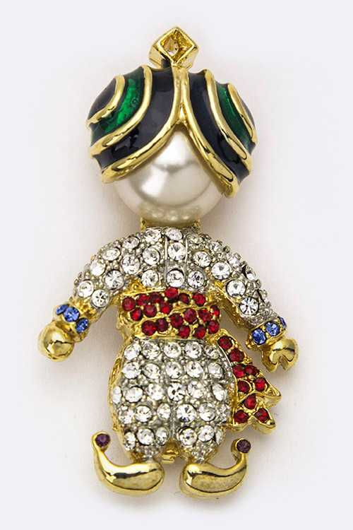 Little Prince Crystal Brooch