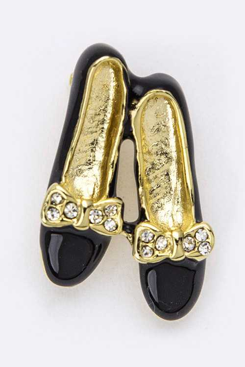 Crystal Shoes Brooch