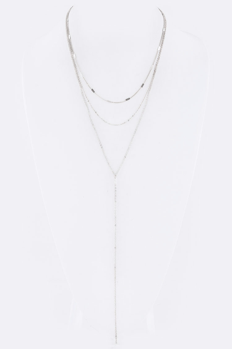 Chain Drop Layer Necklace