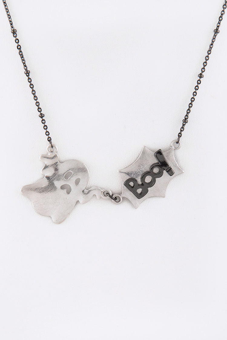 BOO Little Ghost Mix Pendant Necklace Set