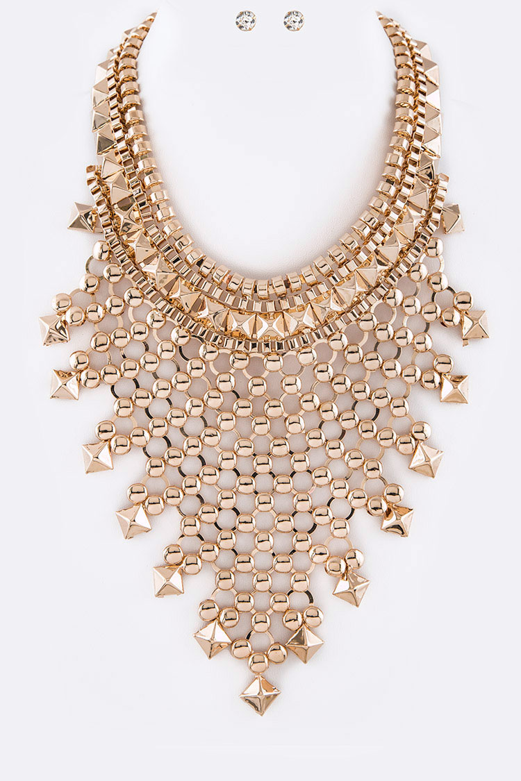 Statement Bib Necklace Set