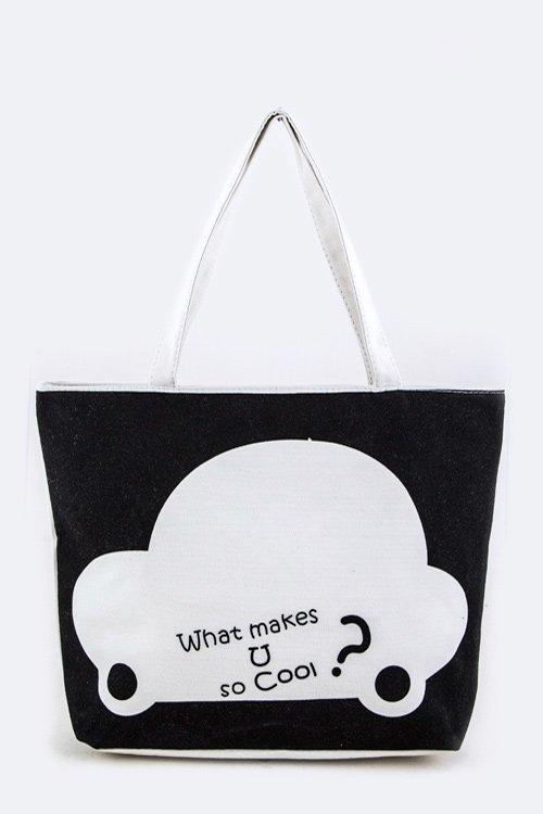 What Makes U So Cool? Fashion Tote