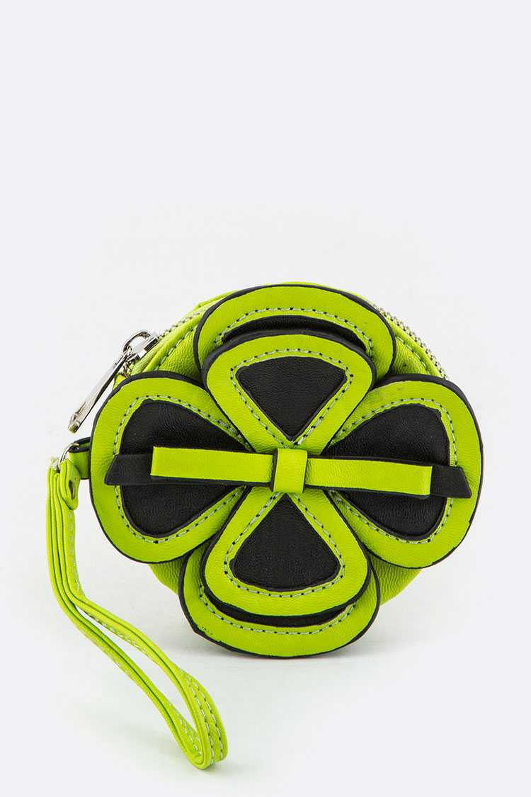 Wristlet Clover Coin Purse