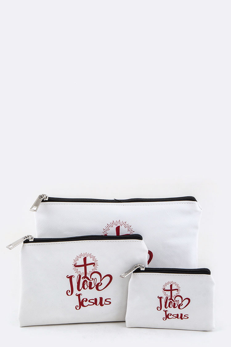 I Love Jesus Mini Pouches Set