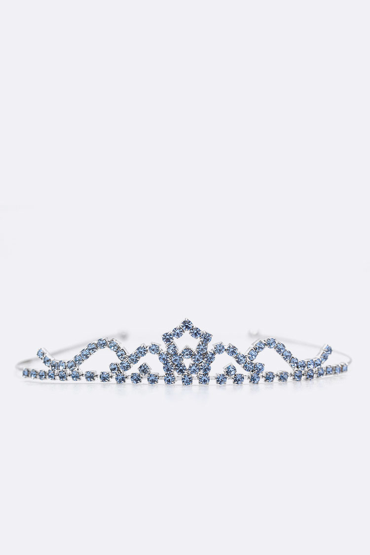 Delicate Light Sapphire Crystal Tiara