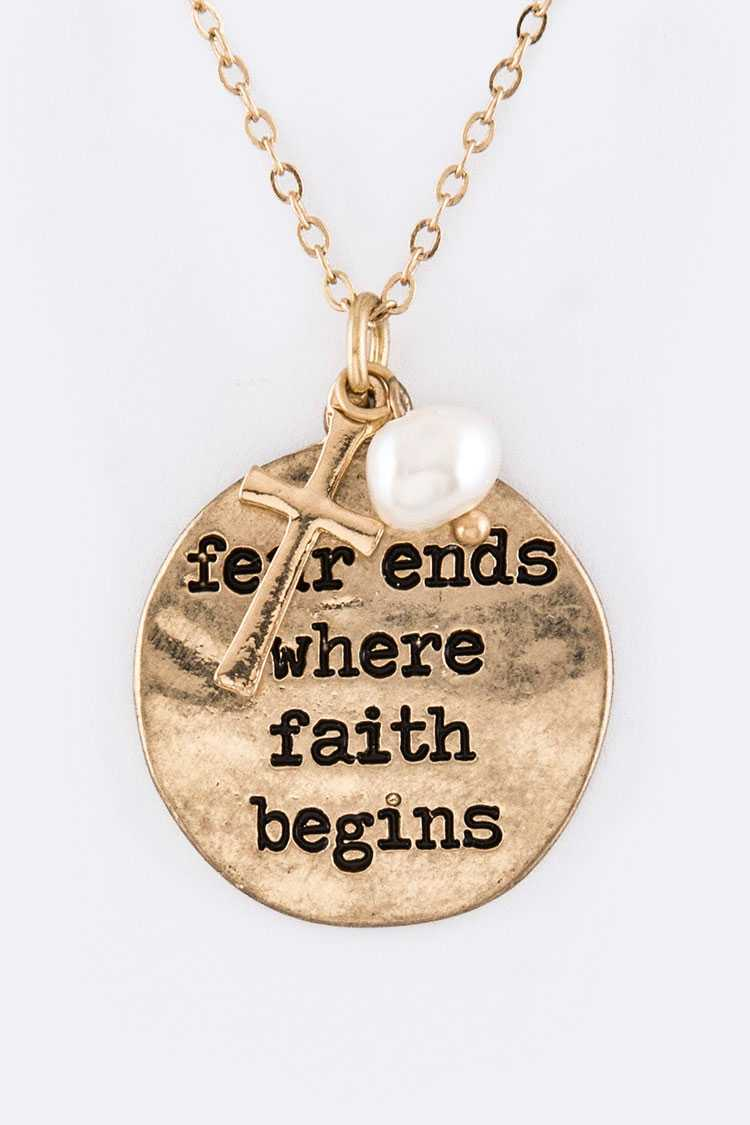 Fear Ends... Mix Charms Necklace Set