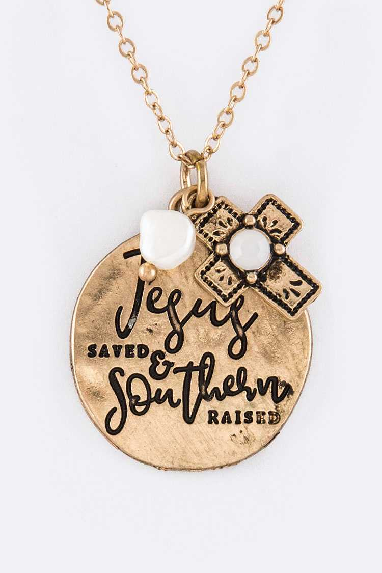 Jesus Saved... Mix Charms Necklace Set