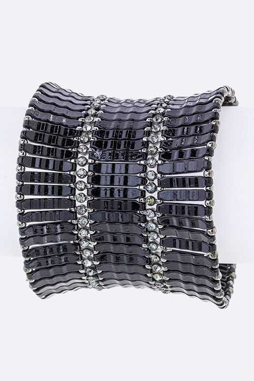 Metal Panels Stretch Bracelet