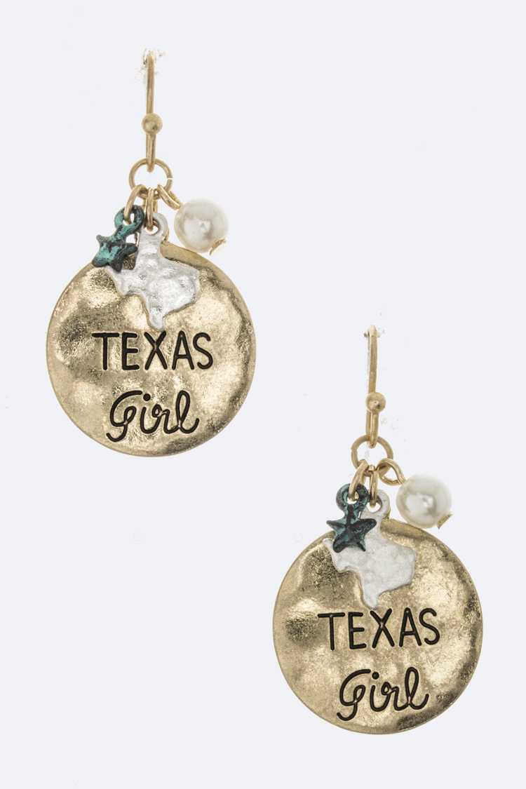 TEXAS Girl Mix Charm Earrings