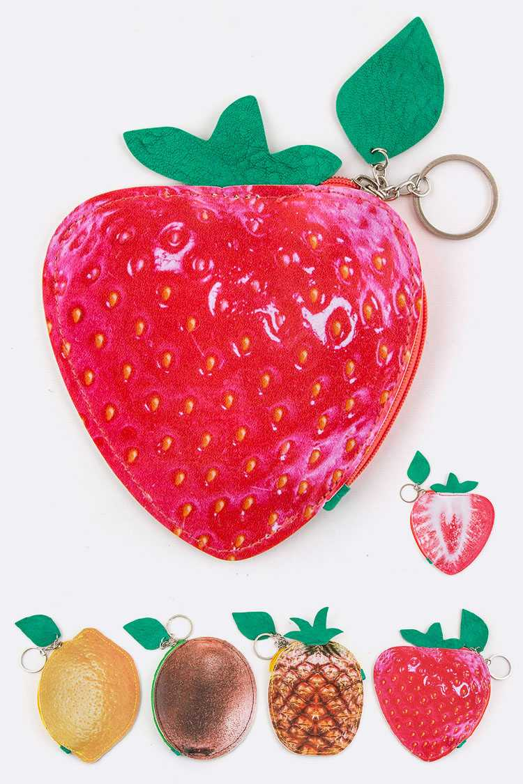 Assorted Fruit Coin Purse