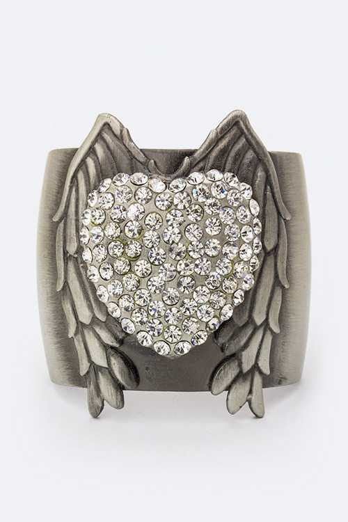 Large Heart Wing Cuff