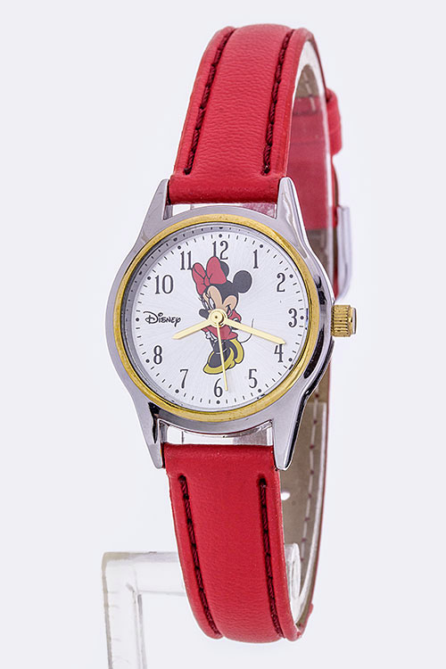 Minnie Small Red Strap Fashion Watch