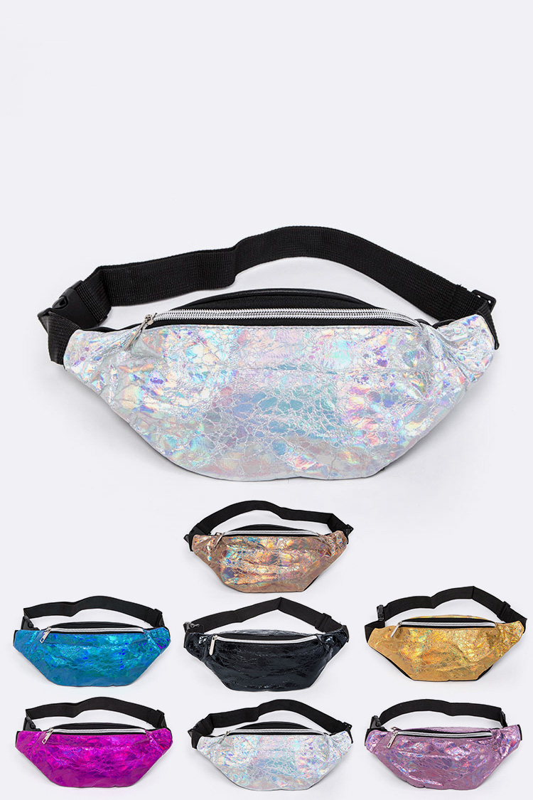 Crinkle Metallic Fanny Pack