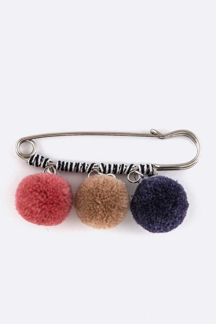 Iconic PomPom Large Pin Brooch