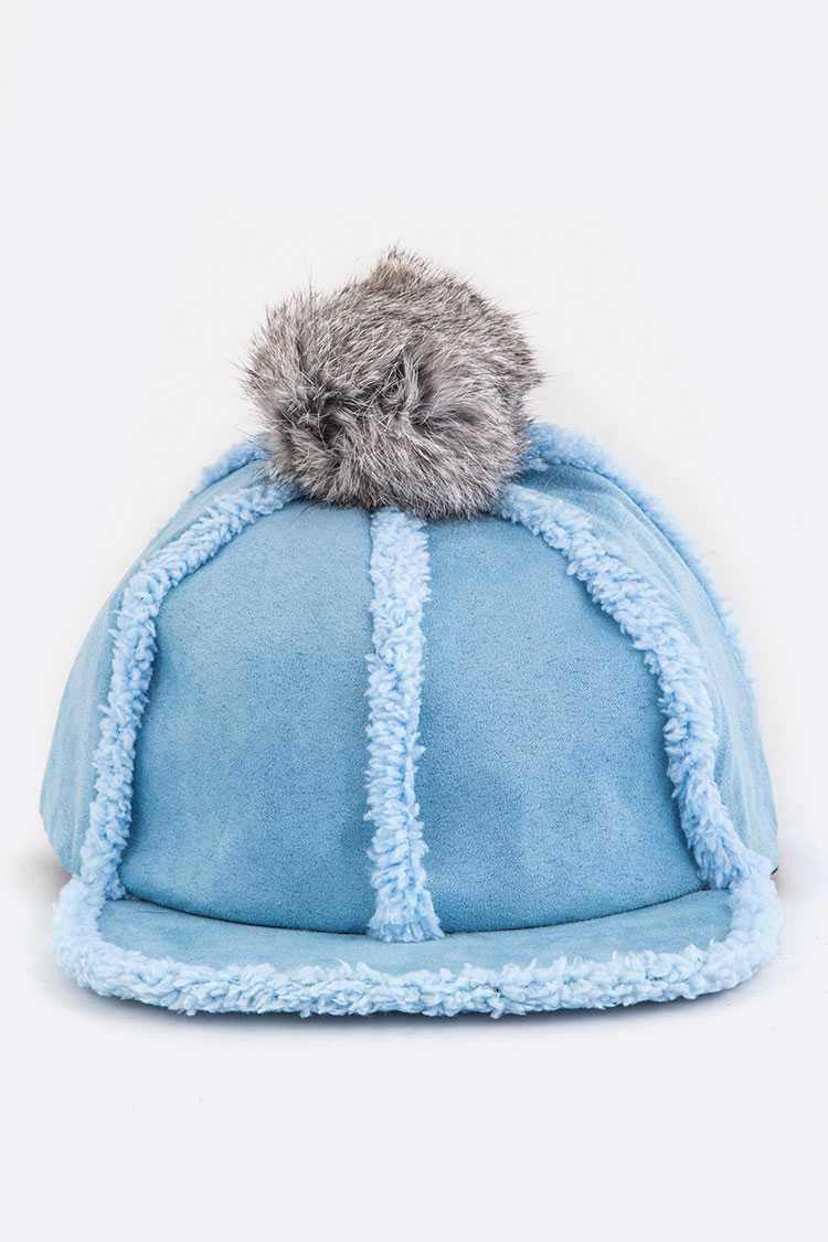 PomPom Sheerling Winter Cap