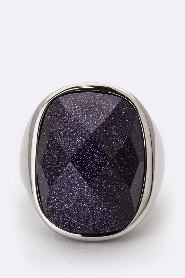 Glittered Stone Ring