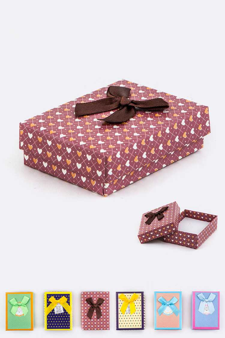 Mix Pattern with Bow Jewelry Gift Box Set